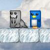 Pinguini Alpinisti Pe Gheata