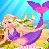 Sirene Barbie de imbracat